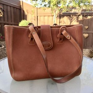 Dooney and Bourke Donegal leather tote bag